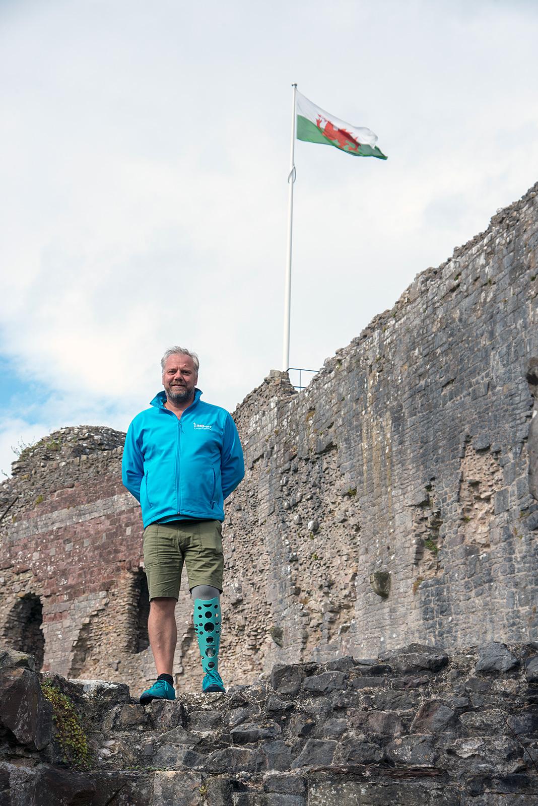Mark at Denbigh Castle