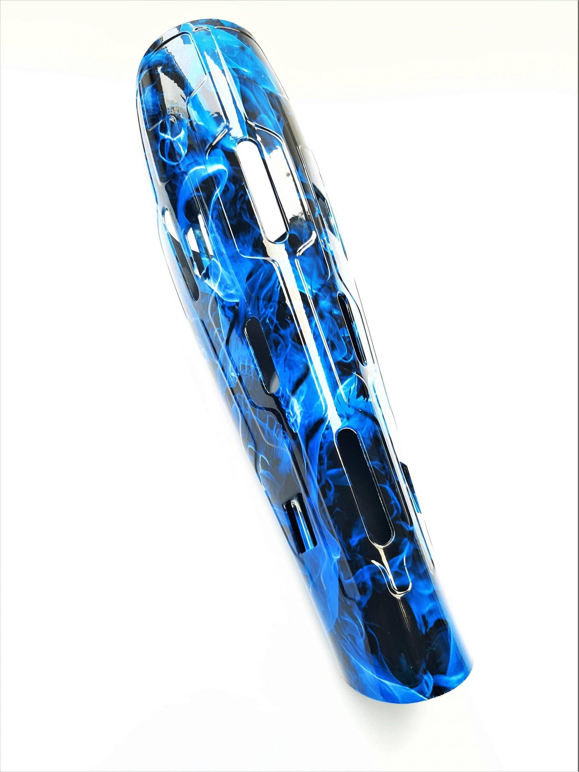 Limb-art prosthetic leg cover VENT Blue Skulls hydrodip